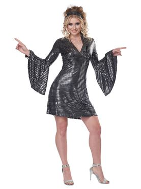 Adult Disco Dance Queen Costume - Back View