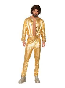 Adult Disco Singer Gold Suit Costume