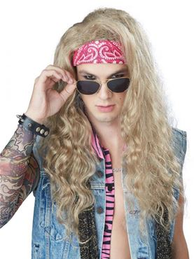 Adult Dude Looks Like a Lady Blonde Wig