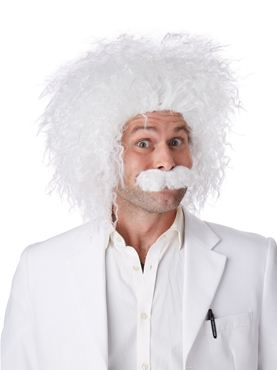 Adult E=Mc² Albert Einstein Wig & Moustache