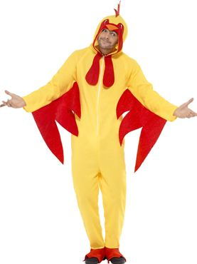 Adult Chicken Onesie Costume Couples Costume