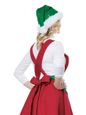 Adult Elf in Charge Costume - Back View