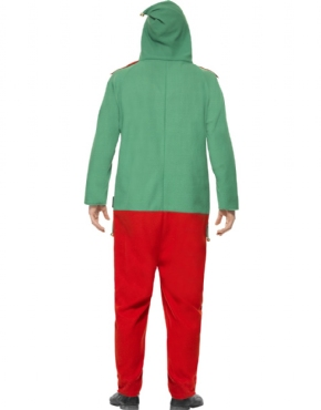 Adult Elf Onesie Costume - Side View
