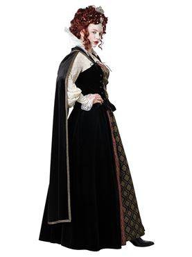 Adult Elizabethan Queen Costume - Side View