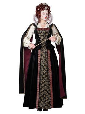 Adult Elizabethan Queen Costume - Back View
