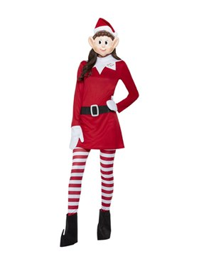 Adult Elves Behavin' Badly Ladies Elf Costume - Back View