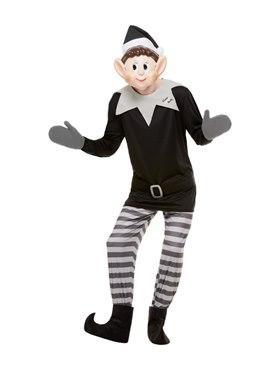 Adult Elves Behavin' Badly Mens Elf Costume - Back View