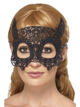 Adult Embroidered Lace Filigree Devil Eye Mask