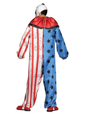 Adult Evil Clown Costume - Back View