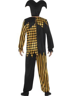 Adult Evil Court Jester Costume - Side View