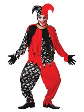 Adult Evil Jester Costume Couples Costume