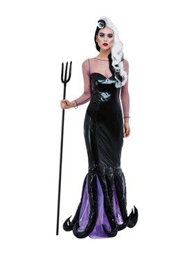 Adult Evil Sea Witch Costume - Back View