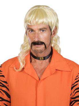Adult Exotic Wig & Moustache