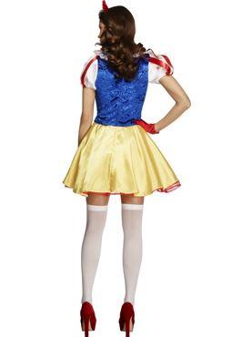 Adult Fairytale Snow Princess Costume - Side View