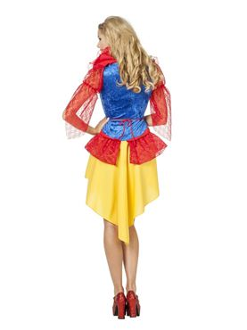 Adult Fairytale Snow Costume - Side View