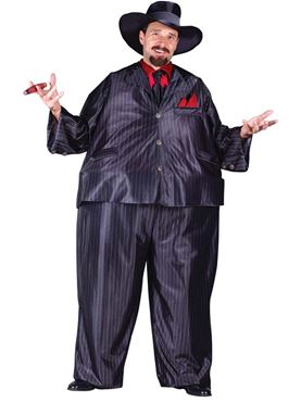 Adult Fat Tony Gangster Costume