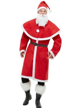 Adult Father Christmas Santa Costume - Back View