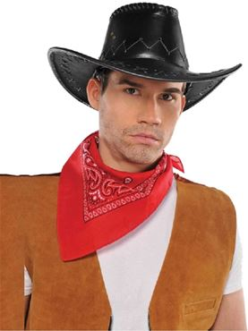 Adult Faux Leather Cowboy Hat