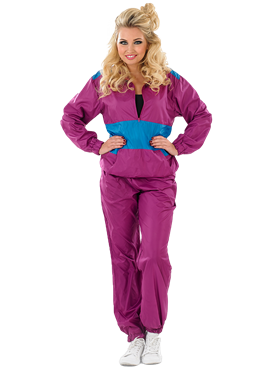 Adult Female 80s Shell Suit Costume Couples Costume