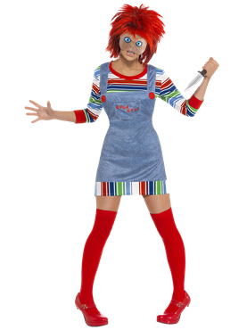 Adult Female Chucky Costume Couples Costume