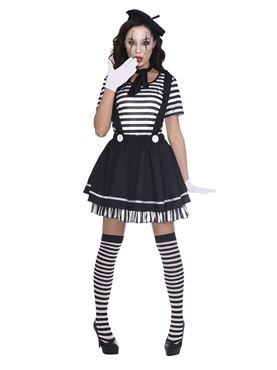 Adult Female Mime Artist Costume