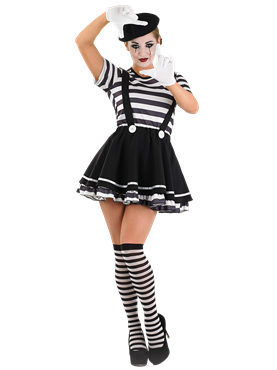 Adult Female Mime Artist Costume Couples Costume