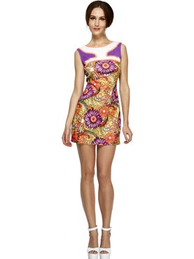 Adult Fever 1960's Peace Love Costume Thumbnail