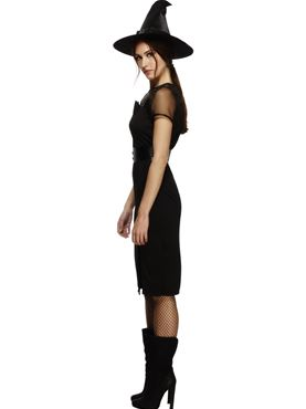 Adult Fever Enchanting Cat Witch Costume - Back View