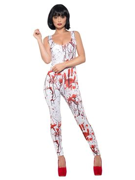 Adult Fever Blood Splatter Costume - Side View