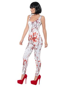Adult Fever Blood Splatter Costume - Back View