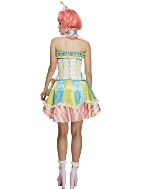 Adult Fever Boutique Vintage Clown Costume - Side View