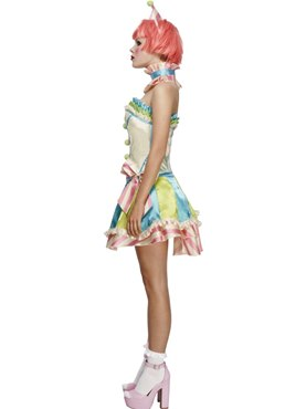 Adult Fever Boutique Vintage Clown Costume - Back View