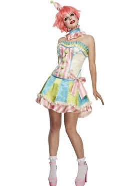Adult Fever Boutique Vintage Clown Costume
