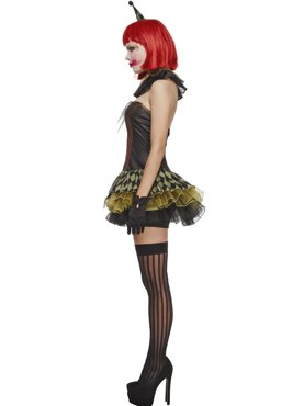 Adult Fever Creepy Zombie Clown Costume - Back View
