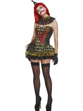 Adult Fever Creepy Zombie Clown Costume