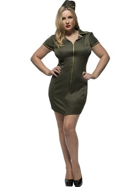 Adult Fever Curves Army Costume
