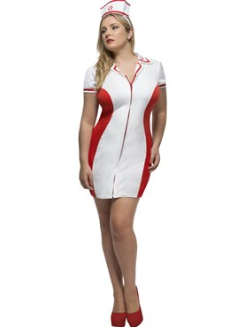 Adult Fever Curves Nurse Costume