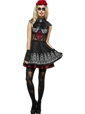 Adult Fever Day of the Dead Costume