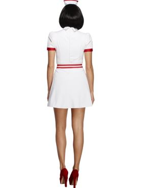 Adult Fever Bed Side Nurse Costume - Side View