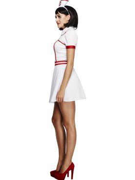 Adult Fever Bed Side Nurse Costume - Back View