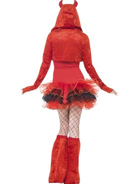 Adult Fever Devil Tutu Costume - Side View
