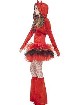 Adult Fever Devil Tutu Costume - Back View