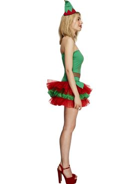 Adult Fever Elf Costume - Side View