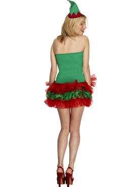 Adult Fever Elf Costume - Back View