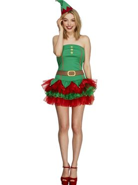 Adult Fever Elf Costume Thumbnail