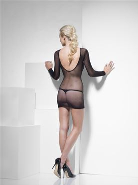 Adult Fever Fishnet Dress - Back View