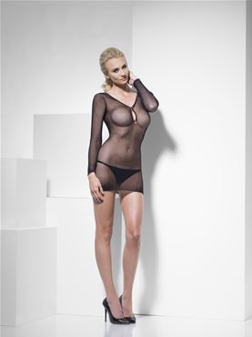 Adult Fever Fishnet Dress