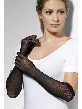 Adult Fever Fishnet Gloves