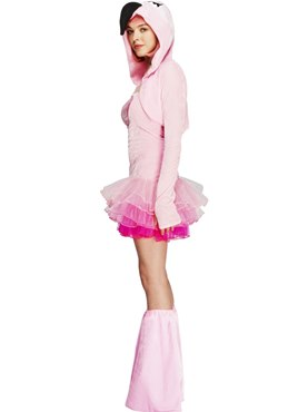 Adult Fever Flamingo Costume - Back View