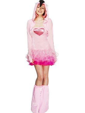 Adult Fever Flamingo Costume Thumbnail